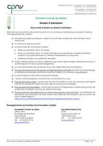 thumbnail of CPNV – Demande d'admission EM – dossier