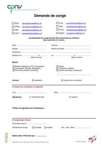 thumbnail of CPNV – Demande de congé