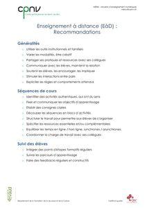 thumbnail of CPNV – EàD – Recommandations